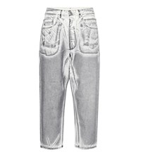 Rick Owens High Rise Straight Jeans Silver