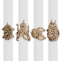 L'objet Gold Monster Ball Napkin Rings Set Of 4