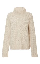 Vilshenko Sally Cable Knit Sweater Ivory