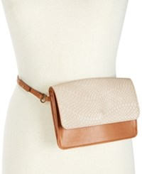 Inc International Concepts I.N.C. Smooth And Python Embossed Belt Bag Created For Macy's Blush