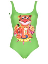 Moschino Tiger Printed Lycra Bathing Suit