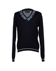Frankie Morello Knitwear Jumpers Men Dark Blue