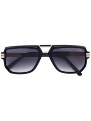 Cazal Square Frame Sunglasses Men Acetate Titanium 57 Black