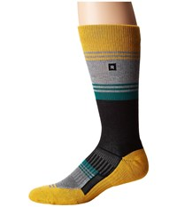 Richer Poorer Expressionist Athletic Yellow Grey Men's Crew Cut Socks Shoes Multi