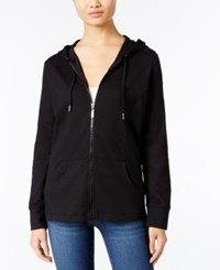 Styleandco. Style Co. Zip Front Hoodie Only At Macy's Deep Black