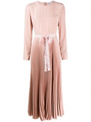 Red Valentino Pleated Midi Dress Pink