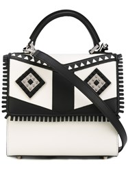 Les Petits Joueurs Patterned Tote White