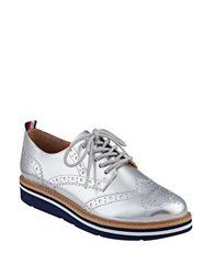 Tommy Hilfiger Kabriele 2 Wingtip Derby Shoes Silver