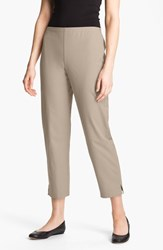 Eileen Fisher Women's Organic Stretch Cotton Twill Ankle Pants Stone