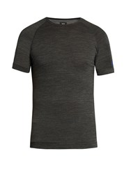 Soar Raglan Sleeved Base Layer T Shirt Dark Grey