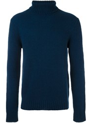 Etro Turtleneck Jumper Blue