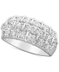 Macy's Diamond Anniversary Band 1 Ct. T.W. In 14K White Gold