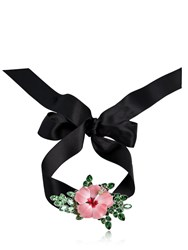 Dsquared Satin Choker W Flower Detail Pink