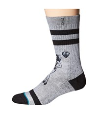 Stance Heart Break Grey Men's Crew Cut Socks Shoes Gray