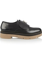 Alexander Wang Dillion Glossed Leather Loafers Black