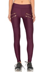 Varley Sofia Compression Tight Burgundy