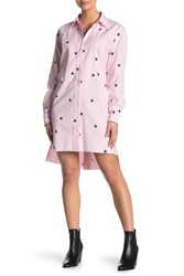 Current Elliott The Rosie Star Print Shirt Dress Light Pink