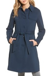Kate Spade New York 3 In 1 Trench Coat Rich Navy