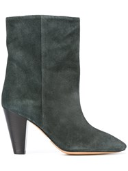 Etoile Isabel Marant Mid Calf Boots Green