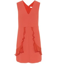 See By Chloe Crepe Minidress Red