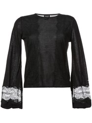 Giambattista Valli Bell Sleeve Sweater Black