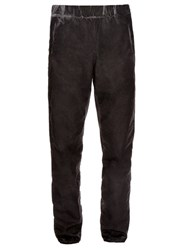 Bottega Veneta Overdyed Cotton Trousers Black
