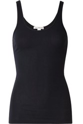 James Perse The Daily Ribbed Stretch Supima Cotton Tank Navy
