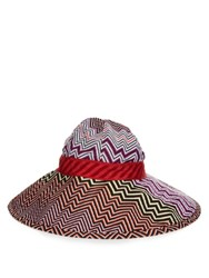 Missoni Mare Chevron Knit Hat Red