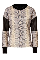 Emanuel Ungaro Python Printed Leather Top Animal Prints