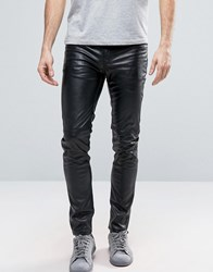 Cheap Monday Tight Flash Skinny Faux Leather Jeans Black