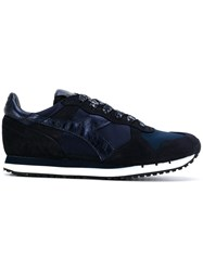 Diadora Trident Sneakers Cotton Leather Suede Rubber 7.5 Blue
