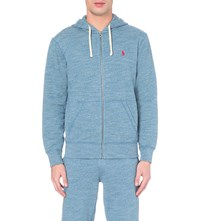 Ralph Lauren Logo Cotton Blend Hoody Blue