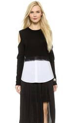 Dagmar Prudence Two Tone Top Black White