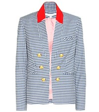 Veronica Beard Cotton Blazer Blue