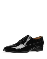 Gucci Patent Leather Lace Up Shoes Black