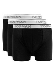 Topman Black Trunks 3 Pack