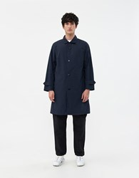 Goldwin Bal Collar Coat In Eclipse Navy