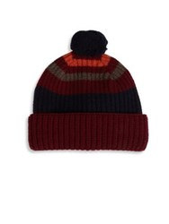 Paul Smith Wool Dexy Beanie Red Blue