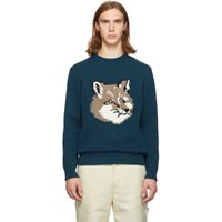 Maison Kitsune Blue Fox Head Sweater