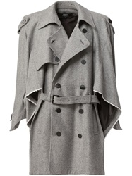 Anrealage Asymmetric Layered Trench Coat Grey
