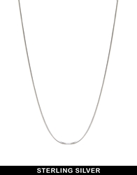 Asos Sterling Silver 18 Inch Snake Chain Necklace