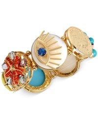 Inc International Concepts M. Haskell For Inc Gold Tone Decorative Multi Disc Stretch Bracelet Only At Macy's