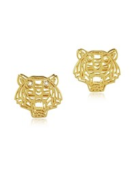 Kenzo Mini Tiger Earrings Gold