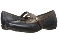Naturalizer Garrison Classic Navy Bridal Brown Leather Women's Maryjane Shoes