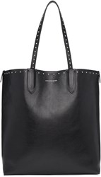 Alexander Mcqueen Black Studded North South Shopper Tote