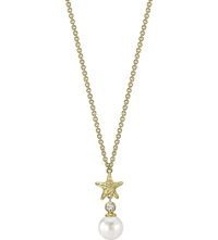 Theo Fennell 18Ct Gold And Pearl Starfish Pendant Necklace
