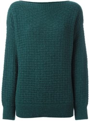 Closed Basket Knit Jumper Blue