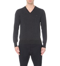 Vivienne Westwood V Neck Wool Jumper Grey