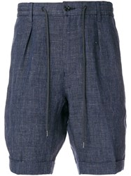 Barba Tailored Drawstring Shorts Blue