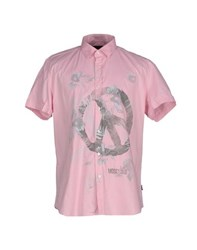 Love Moschino Shirts Shirts Men Pink